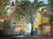 Italian Wine Paintings - Morning in the Old Country by Eloise Schneider
