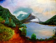 Splendor Paintings - Morning in the Rockies by Janis  Tafoya