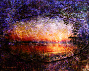 Cypress Digital Art Prints - Morning Is Breaking Print by J Larry Walker