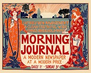 Paris Digital Art Prints - Morning Journal Print by Sanely Great