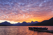 Glacier National Park Posters - Morning Light Poster by Jon Glaser