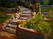 Stone Steps Art - Morning Light by Lisa Phillips Owens