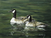 Geese Pastels - Morning Light by Pat Morris