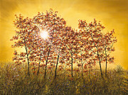 American Landscape Artist Doug Kreuger Prints - Morning Maples Print by Doug Kreuger