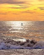 Beach Scene Prints - Morning Meditation Print by Kim Bemis