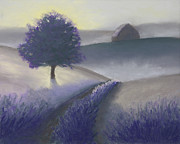 Old Barn Pastels - Morning Mist by Garry McMichael