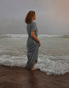 Realistic Painting Originals - Morning Mist by Holly Kallie