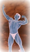 Fitness Models Digital Art Posters - Morning Muscle  Gods of Olympus Poster by Jake Hartz