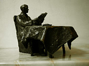Nikola Litchkov Sculptures - Morning newspaper by Nikola Litchkov