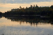 Calm Waters Prints - Morning on Boot Lake Print by Larry Ricker