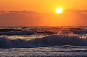 Morning On The Beach Print by Bruce Bley