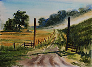 Wet Into Wet Watercolor Paintings - Morning on the farm by Heidi E  Nelson