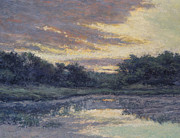 Picturesque Painting Prints - Morning on the Marsh / Wellfleet Print by Gregory Arnett
