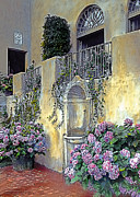 Italy Painting Prints - Morning on the Palazzo Print by Terry Reynoldson