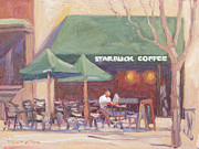 Boston Paintings - Morning Paper by Dianne Panarelli Miller