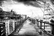 School Houses Photos - Morning Pier by John Rizzuto