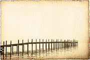 Worn In Metal Prints - Morning Pier Metal Print by Skip Nall