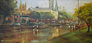 Raining Paintings - Morning Rain in Wayne - SOLD by Michele Byrne