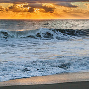 Atlantic Beaches Prints - Morning Rays Square Print by Bill  Wakeley