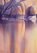 Watson Lake Paintings - Morning Reflection by Robert Hooper