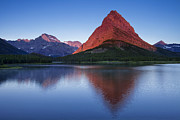 Glacier National Park Posters - Morning Reflections Poster by Andrew Soundarajan