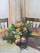Fruitbowl Paintings - Morning Reflectons  by Connie Lynn Pico