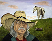 Mexican Horse Posters - Morning Ride Poster by Leah Saulnier The Painting Maniac