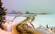 Winter Roads Photo Originals - Morning Road by Roland Stanke