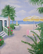 Siesta Key Paintings - Morning Rush Hour by Debbie Kiewiet
