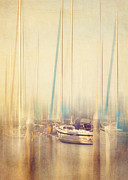 Docked Sailboats Prints - Morning Sail Print by Amy Weiss