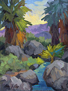 Canyons Paintings - Morning Shade Andreas Canyon by Diane McClary