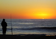 Fishing Poles Posters - Morning Solitude Poster by Karen Wiles