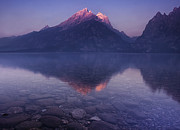 Mountain Reflection Posters - Morning Stillness Poster by Andrew Soundarajan