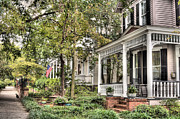 Southern Homes Prints - Morning Stroll Print by JC Findley
