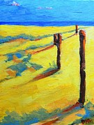 Nature Scene Paintings - Morning Sun at the Beach by Patricia Awapara