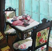 Tea Cups Paintings - Morning Tea by Michelle Winnie