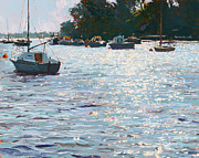 Crowds Paintings - Morning Tide by Martin Decent