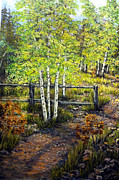 Reno Nevada Painting Prints - Morning Trail Print by Julie Townsend