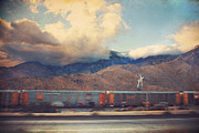 Motion Prints - Morning Train Print by Laurie Search