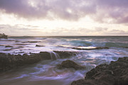 Lava Rock Prints - Morning Waves Print by Brian Harig