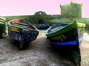 Moroccan Photos - Moroccan Boats nr.1 by Svenja Bary