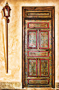 Moroccan Photos - Moroccan Door by Diana Sainz by Diana Sainz