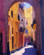 Purple Robe Art - Moroccan Light by Bob Galka