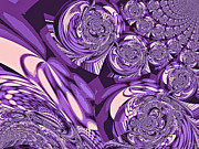 Moroccan Digital Art Posters - Moroccan Lights - Purple Poster by Absinthe Art By Michelle LeAnn Scott
