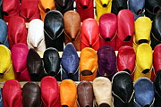 Moroccan Photos - Moroccan Slippers by Sophie Vigneault