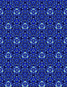 Moroccan Digital Art Framed Prints - Moroccan Textile Pattern 2 Framed Print by Hakon Soreide