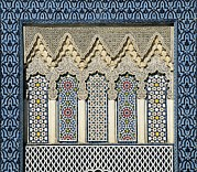 Moroccan Photos - Morocco. Fes. Royal Palace. Decoration by Everett