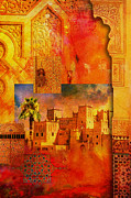 Rabat Paintings - Morocco Heritage Poster 00 by Catf