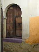 Old Door Pyrography - Morocco old city Casablanca by M Ali Sahib