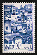 Moroccan Photos - Morocco Vintage Postage Stamp by Andy Prendy